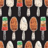 Elementos dibujados mano del menú del restaurante Foto de archivo