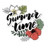 Elementos dibujados mano retra para los diseños caligráficos del verano Ornamentos del vintage por días de fiesta libre illustration