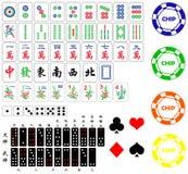 Elementos diferentes do jogo. Fotos de Stock Royalty Free