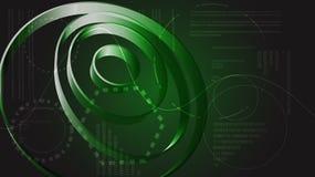 Elementos digitales modernos abstractos verdes de la tecnología de energía de la exhibición de HUD de la textura circular futura  libre illustration