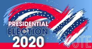 Elementos din?micos do projeto para a elei??o presidencial do Estados Unidos da Am?rica Voto 2020 EUA da bandeira Vetor ilustração royalty free