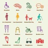 Elementos discapacitados Foto de archivo