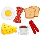 Elementos do alimento de café da manhã Imagem de Stock Royalty Free