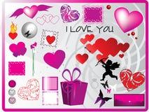 Elementos do amor Imagem de Stock Royalty Free