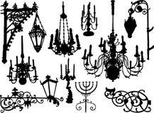 Elementos do baroque do vetor Foto de Stock
