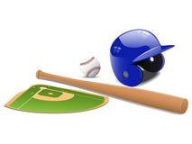 Elementos do basebol ilustração stock