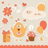 Elementos do bebé ilustração royalty free