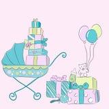 Elementos do bebê Foto de Stock Royalty Free
