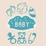 Elementos do bebê Imagens de Stock Royalty Free