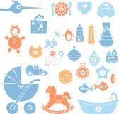 elementos do bebê da Um-cor Imagens de Stock