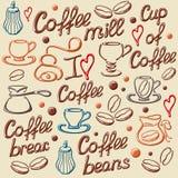 Elementos do café Imagens de Stock