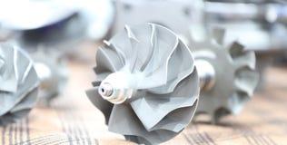 Elementos do carregador do turbocompressor para o motor diesel fotografia de stock