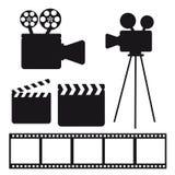 Elementos do cinema Foto de Stock