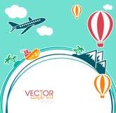 Elementos do conceito das férias Imagem de Stock Royalty Free