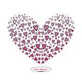 Elementos do coração ilustração royalty free