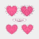 Elementos do coração ilustração stock