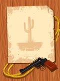 Elementos do cowboy. Vida ocidental ilustração stock