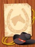 Elementos do cowboy. Vida ocidental Fotografia de Stock