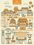 Elementos do curso de Hong Kong ilustração stock