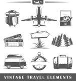 Elementos do curso do vintage Foto de Stock