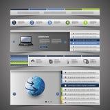 Elementos do design web Fotografia de Stock Royalty Free