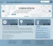 Elementos do design web em tons azuis e cinzentos molde Vetor Foto de Stock