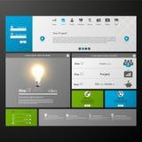 Elementos do design web. Moldes para o Web site. Imagens de Stock