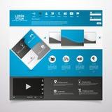 Elementos do design web. Moldes para o Web site. Fotografia de Stock Royalty Free