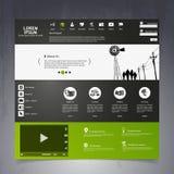 Elementos do design web. Moldes para o Web site. Imagem de Stock