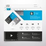 Elementos do design web. Moldes para o Web site. Fotografia de Stock