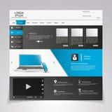 Elementos do design web. Moldes para o Web site. Fotos de Stock Royalty Free