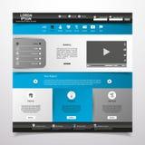 Elementos do design web. Moldes para o Web site. Fotos de Stock