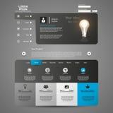 Elementos do design web. Moldes para o Web site. Foto de Stock Royalty Free