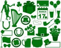 Elementos do dia de Patricks de Saint Imagens de Stock