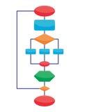 Elementos do diagrama ilustração stock