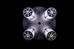 Elementos do diodo emissor de luz na lâmpada Lâmpadas com diodos Muitas luzes brilhantes fotos de stock
