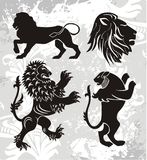 Elementos do emblema Fotos de Stock