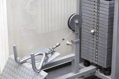 Elementos do equipamento do gym imagem de stock