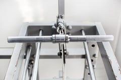 Elementos do equipamento do gym fotografia de stock