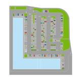 Elementos do estacionamento Imagem de Stock