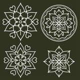 Elementos do estilo de Kolam Imagem de Stock