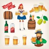 Elementos do festival da cerveja Imagem de Stock Royalty Free