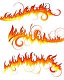 Elementos do fogo fotografia de stock royalty free