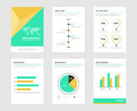 Elementos do folheto de Infographic para o visualização dos dados comerciais Imagem de Stock