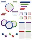 Elementos do gráfico da informação Foto de Stock Royalty Free