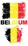 Elementos do Grunge com a bandeira de Bélgica Ilustração do Vetor