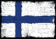 Elementos do Grunge com a bandeira de Finlandia Ilustração do Vetor