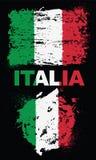Elementos do Grunge com a bandeira de Itália Imagens de Stock