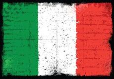 Elementos do Grunge com a bandeira de Itália Ilustração Stock