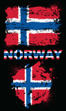 Elementos do Grunge com a bandeira de Noruega Imagem de Stock